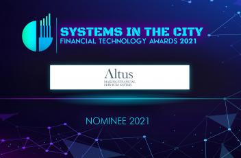 Altus is nominated in two categories for the 2021 Goodacre's Systems In the City Awards