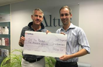 Altus names Off The Record as its chosen charity of the year
