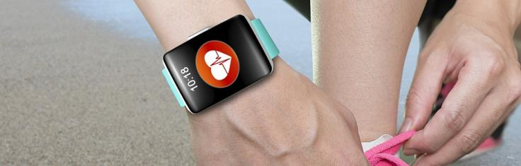 Arm wearing smart watch